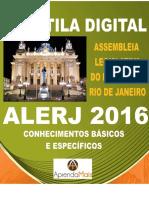 APOSTILA ALERJ 2016 ESPECIALISTA LEGISLATIVO QUALQUER NÍVEL SUPERIOR + BRINDES