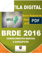 APOSTILA BRDE 2017 ANALISTA DE PROJETOS - ECONÔMICO FINANCEIRA + BRINDES