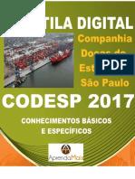 APOSTILA CODESP 2017 ENGENHEIRO DE SEGURANÇA DO TRABALHO + BRINDES