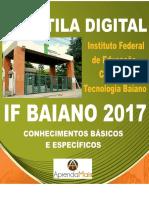 APOSTILA IF BAIANO 2017 ANALISTA DE TECNOLOGIA DA INFORMAÇÃO + BRINDES