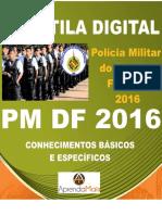 APOSTILA PM DF 2016 OFICIAL + BRINDES