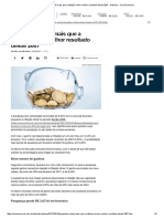 Poupança Rende Mais Que a Inflação e Tem Melhor Resultado Desde 2007 - Notícias - UOL Economia