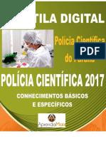 APOSTILA POLÍCIA CIENTÍFICA PR 2017 PERITO ÁREA 3 + BRINDES