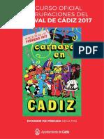 Ayto. de Cádiz. Carnaval 2017. Dossier Prensa Adultos