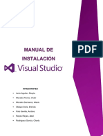 Manual de Instalacion Visual Studio