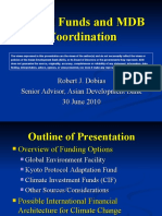 Global Funds and MDB Coordination