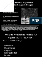 Organizational Response to Climate Change