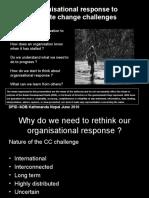 Organizational Response to Climate Change