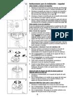 Aspersor Instrucciones