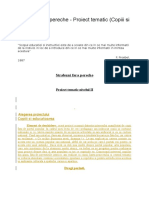 Strabuni Fara Pereche - Proiect Tematic (Copiii Si Educatoarea)
