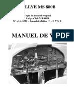 Manuel de Vol MS880B F-BVNE