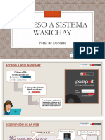 Instructivo Para Acceso a Wasachay
