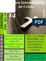 14 - A Obra Intercessória de Cristo