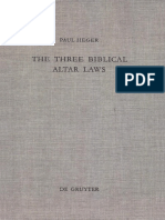 (Beihefte Zur Zeitschrift Für Die Alttestamentliche Wissenschaft 279) Paul Heger-The Three Biblical Altar Laws_ Developments in the Sacrificial Cult in Practice and Theology_ Political and Economic Ba