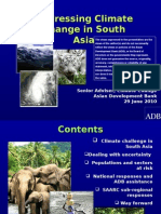 Addressing Climate Change in South Asia