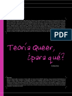 Teoría Queer Para Qué