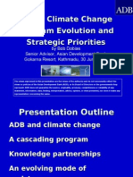 ADB Climate Change Program Evolution and Strategic Priorities