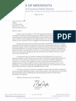 Dayton reinsurance letter