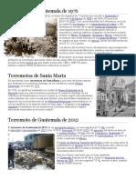 Terremotos de Guatemala