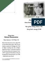 Antonino Buenaventura, A Biography