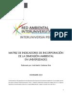 Matriz de Indicadores PERU