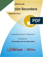 Diseño Curricular-Educación Secundaria Técnico Profesional en Tecnología de Los Alimentos