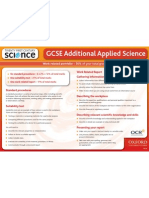 GCSE Additional Applied Science A2 Poster