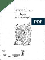 Michel Leiris, Espejo de La Tauromaquia