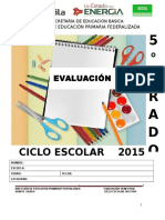 5° EXAMEN SEMESTRAL CICLO ESCOLAR 2015-2016