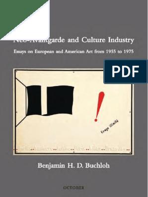 Benjamin Buchloh Neoavantgarde And Culture Industry Livro Completo Aesthetics Avant Garde