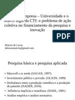 Parcerias empresa – Universidade e o Marco legal da CTI