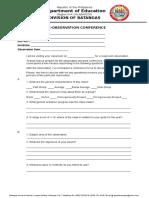 Pre Observation Conference