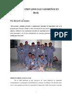 Guardias Privados Salvadoreños en Irak