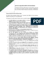 Instructivo Para La Carga de Archivos de Inversiones - Aseguradoras