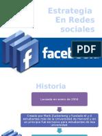 Estrategia en red social Facebook