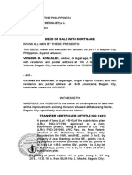 Deed of Sale With Mortgage