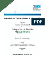 Analisis Del Uso y de Calidad Evernote JLMH FJSH ITI 8A