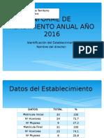 INFORME DE  RENDIMIENTO ANUAL AÑO 2016 pptx (1)