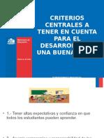 Criterios Centrales Para El Desarrollo de Una Clase