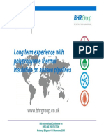 Long Term Experience With Polypropylene Thermal Insulation for Subsea Pipelines