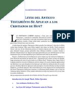 Cuáles Leyes Del Antiguo Testamento Se Aplican a Los Cristianos de Hoy