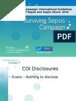 Surviving Sepsis Campaign 2016 Guidelines Presentation Final