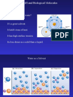 Water PH and Biological Molecules