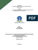 Tugas 1 Mk. Kebijakan Pengembangan Wilayah & Perkotaan