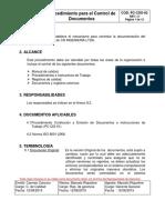 PROCEDIMENTO PARA CONTROL DE DOCUMENTOS.pdf