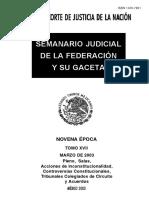 Semanario Judicial de La Federacion y Su Gaceta - Marzo (1)