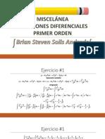 Miscelanea de Ecuaciones Diferenciales de Primer Orden