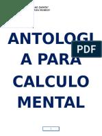 ANTOLOGIA PARA CALCULO MENTAL