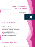 Discipline  and Ideas in the Social Sciences