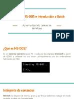 Comandos MS-DOS e Introducción a Batch